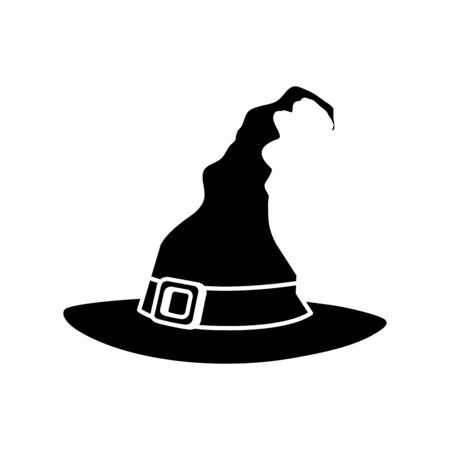 hat of witch for halloween icon vector illustration design Çizim