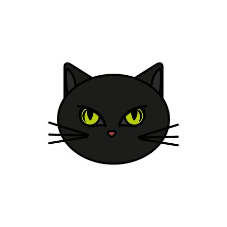 head of cat animal of halloween vector illustration design