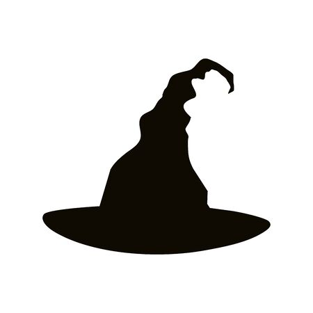 silhouette of witch hat for halloween vector illustration design