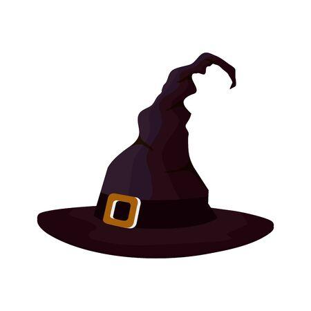 hat of witch for halloween icon vector illustration design Ilustração