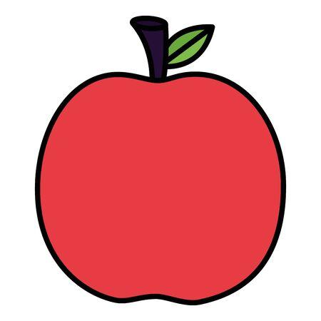 fresh apple on white background vector illustration Иллюстрация