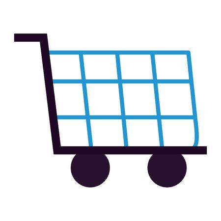shopping cart ecommerce market on white background vector illustration Stock Vector - 130130357