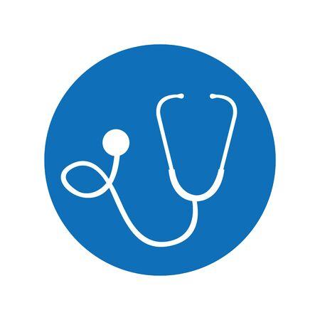 stethoscope medical device icon vector illustration design Zdjęcie Seryjne - 130017664