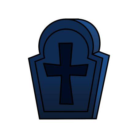 Tombe d'halloween de l'icône du cimetière de conception d'illustration vectorielle