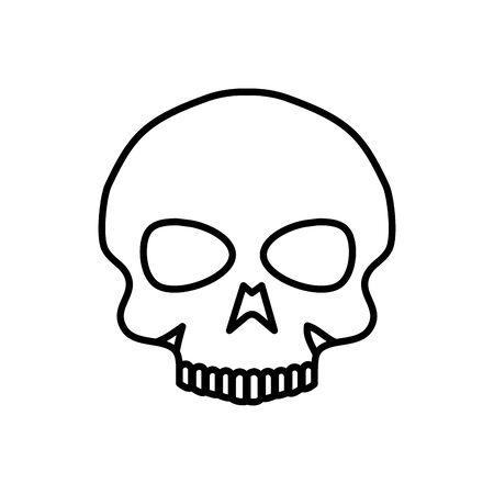 skull dead halloween isolated icon vector illustration design Stock Vector - 130017824