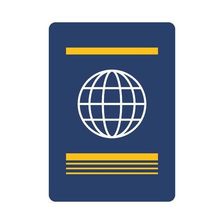 passport international id on white background vector illustration Foto de archivo - 130018089