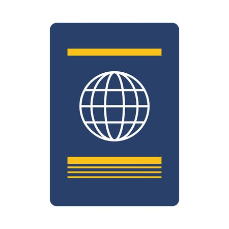 passport international id on white background vector illustration