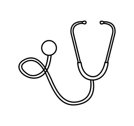 stethoscope medical device icon vector illustration design Vektoros illusztráció