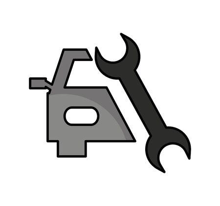 auto repair service isolated icon vector illustration design Ilustrace