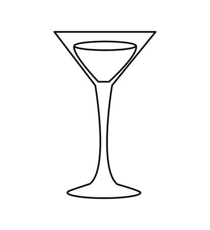 glass drink party isolated icon vector illustration design 向量圖像