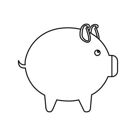 piggy savings isolated icon vector illustration design Stock Illustratie