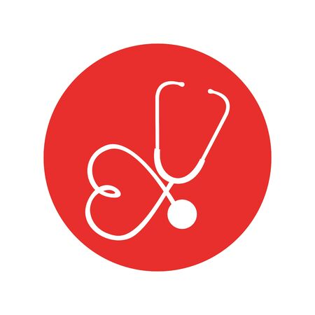 stethoscope medical device icon vector illustration design Zdjęcie Seryjne - 129984527