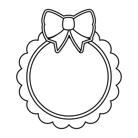lace with bowtie decorative icon vector illustration design