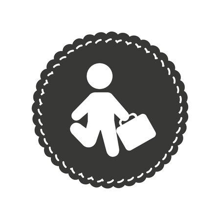businessman silhouette isolated icon vector illustration design