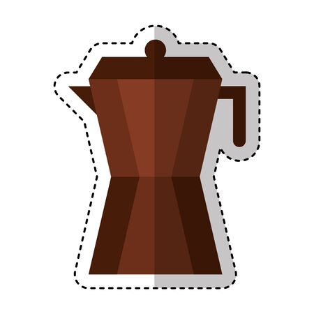 coffee kettle drink isolated icon vector illustration design