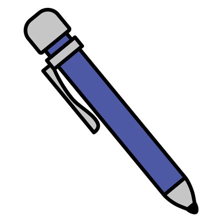 pen supply school on white background vector illustration