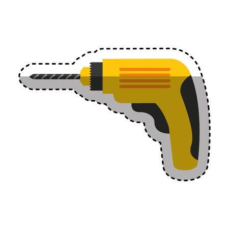 drill electric tool icon vector illustration design Banco de Imagens - 130021749