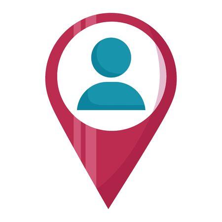 navigation pointer avatar web icon vector illustration Иллюстрация
