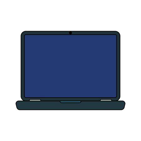 Laptop design, Digital technology communication social media internet web and screen theme Vector illustration Illusztráció