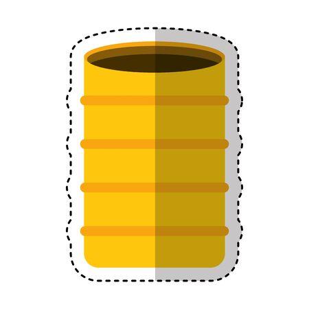 construction barrel isolated icon vector illustration design