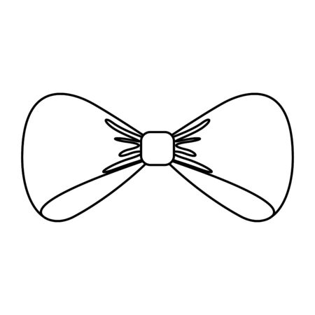 bow tie elegant isolated icon vector illustration design Ilustração