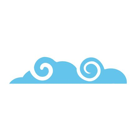 Cloud design, Weather sky nature climate cloudy season and meteorology theme Vector illustration