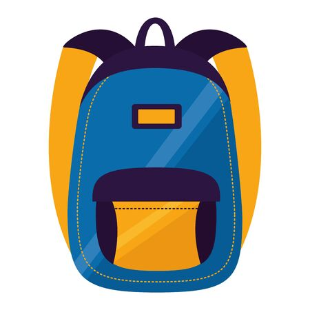 backpack school on white background vector illustration