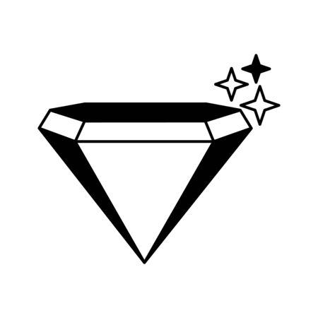 Diamant Silhouette isoliert Symbol Vektor Illustration Design Vektorgrafik