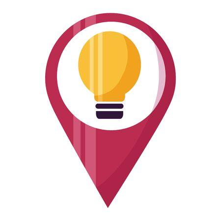 navigation pointer light bulb energy vector illustration