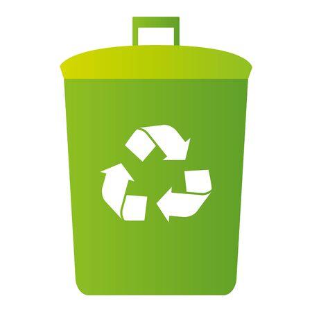 recycle bin eco friendly environment vector illustration Archivio Fotografico - 130022428