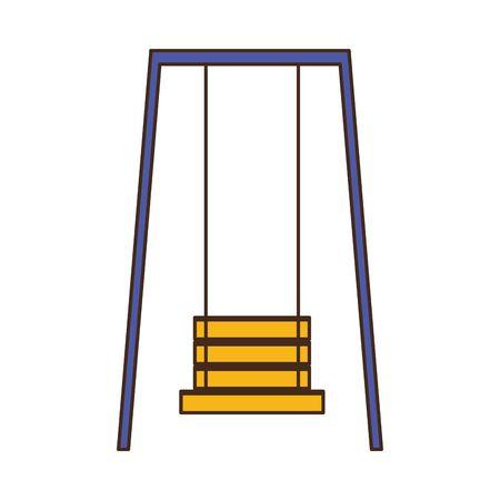 swing play kids zone white background vector illustration Vektorové ilustrace