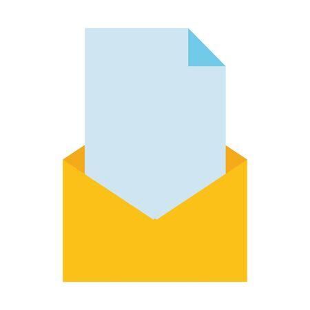 mail paper letter message on white background vector illustration