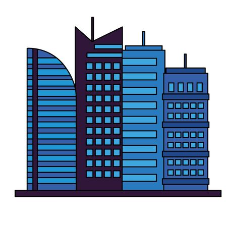 building urban city on white background vector illustration