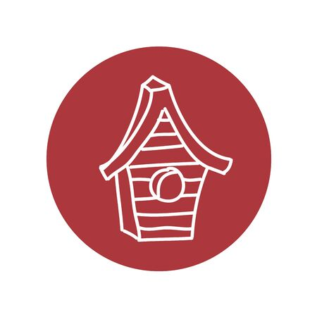 house wooden bird isolated icon vector illustration design