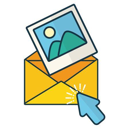envelople letter picture click send email vector illustration 일러스트