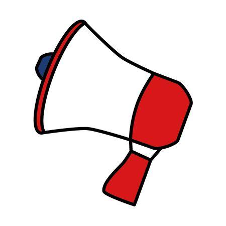 megaphone speaker announce on white background vector illustration  イラスト・ベクター素材