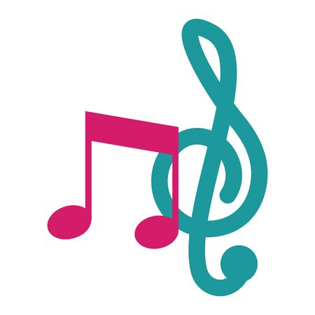 musical note on white background vector illustration Illusztráció