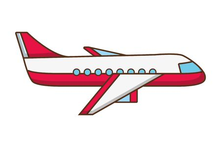 airplane transport travel on white background vector illustration  イラスト・ベクター素材