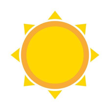 sun climate summer on white background vector illustration Illustration