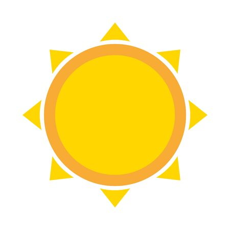 sun climate summer on white background vector illustration Illusztráció