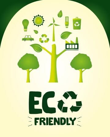 eco friendly save earth nature solar panel ecology vector illustration