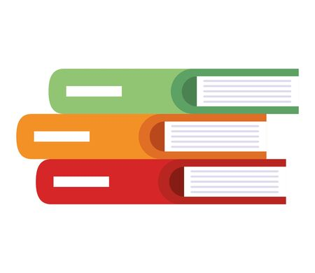 pile text books icons vector illustration design Illusztráció