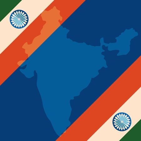 indian flags independence day frame vector illustration design Ilustrace