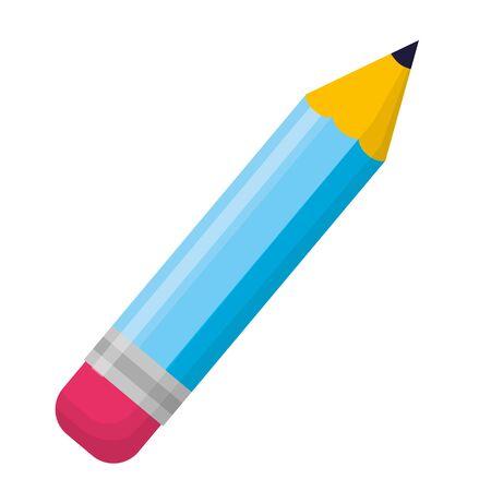 École de fournitures de crayons sur fond blanc vector illustration Vecteurs