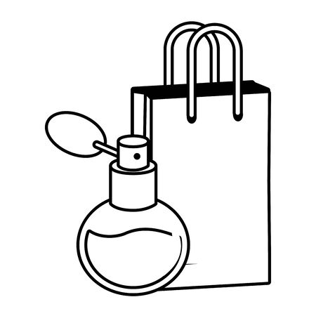 fragrance shopping bag pop art elements vector illustration Vektorové ilustrace