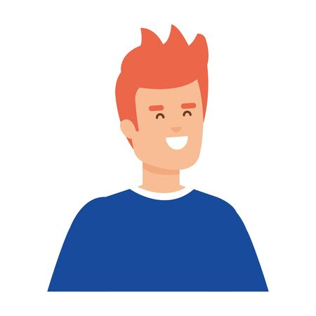 young and casual man character vector illustration design Ilustrace