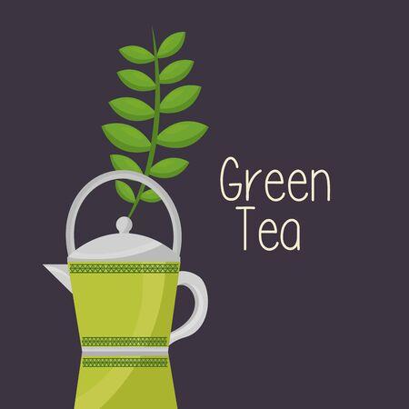 Tea pot design, Drink breakfast beverage tradition kitchen and aromatic theme Vector illustration