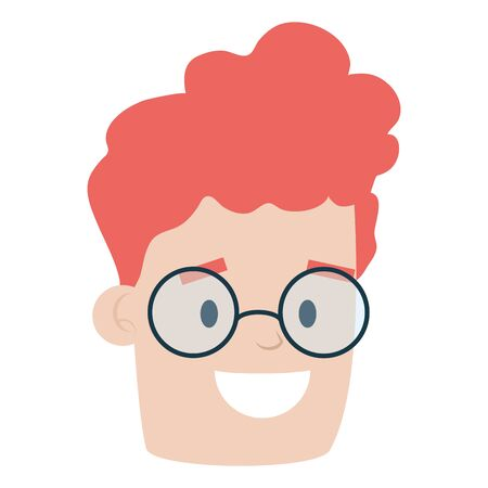 face man character on white background vector illustration 일러스트