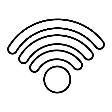wifi internet signal on white background vector illustration