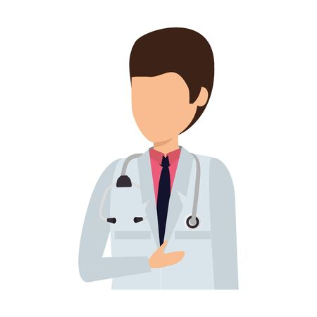 professional doctor avatar character vector illustration design Banco de Imagens - 130041523
